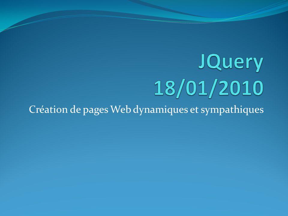 Création de pages Web dynamiques et sympathiques