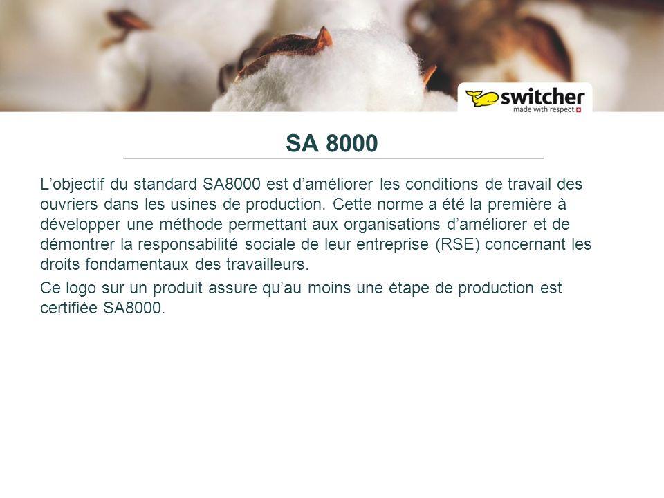 SA 8000 Lobjectif du standard SA8000 est daméliorer les conditions de travail des ouvriers dans les usines de production.