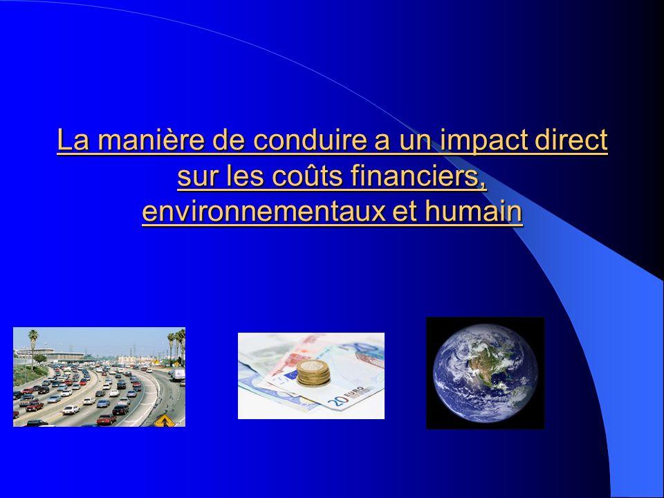 La manière de conduire a un impact direct sur les coûts financiers, environnementaux et humain