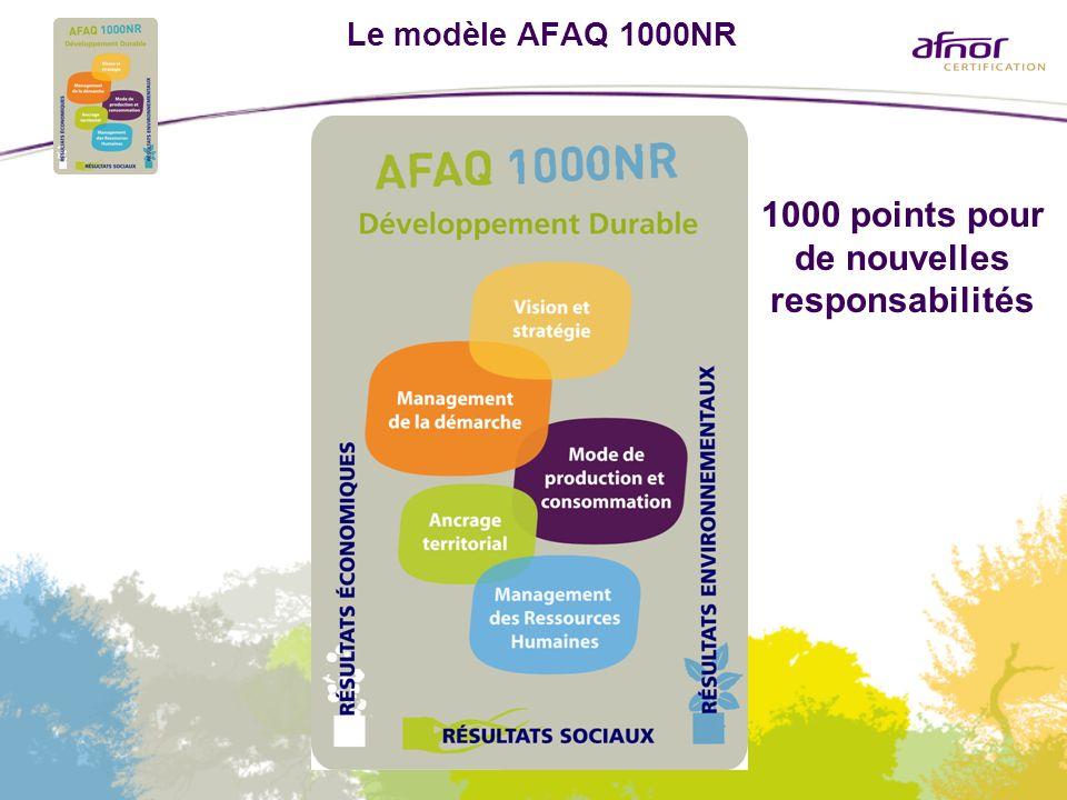 Le modèle AFAQ 1000NR 1000 points pour de nouvelles responsabilités