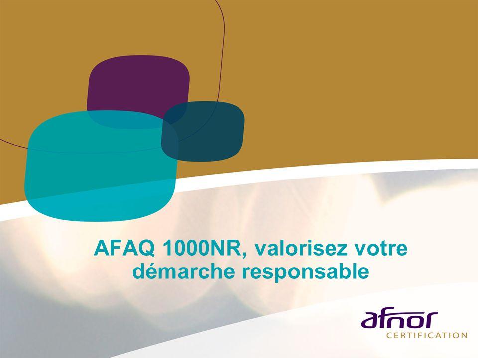 AFAQ 1000NR, valorisez votre démarche responsable