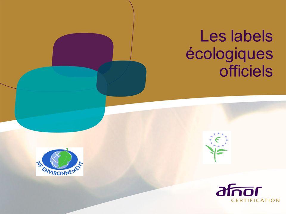 Les labels écologiques officiels