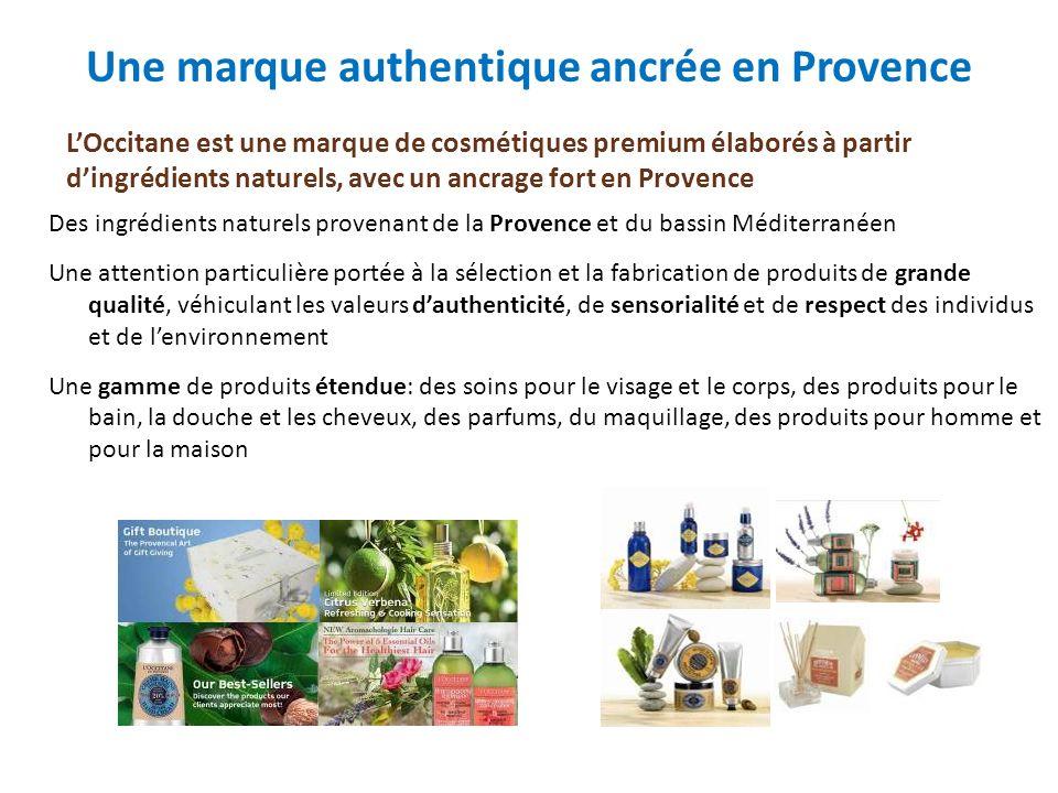 Des ingrédients naturels provenant de la Provence et du bassin Méditerranéen Une attention particulière portée à la sélection et la fabrication de pro