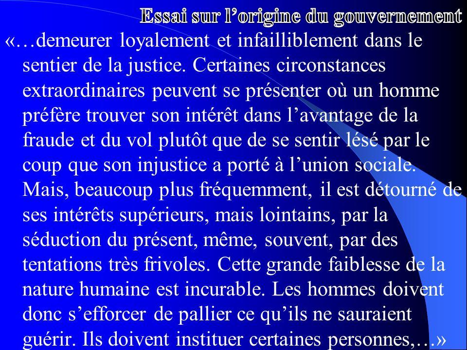 «…demeurer loyalement et infailliblement dans le sentier de la justice. Certaines circonstances extraordinaires peuvent se présenter où un homme préfè