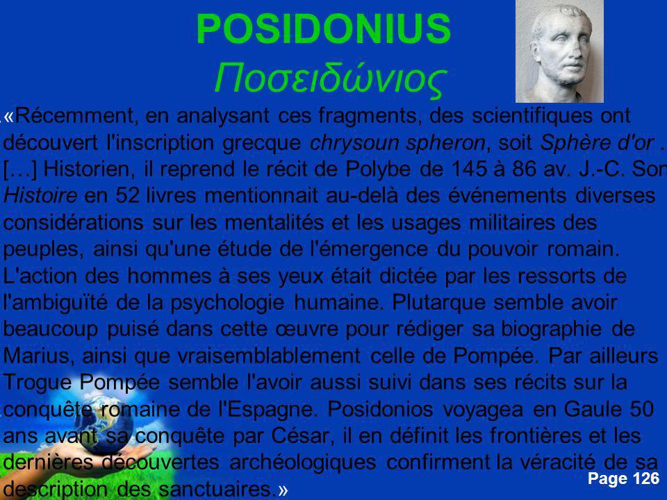 Free Powerpoint Templates Page 126 POSIDONIUS Ποσειδώνιος....« Récemment, en analysant ces fragments, des scientifiques ont découvert l'inscription gr