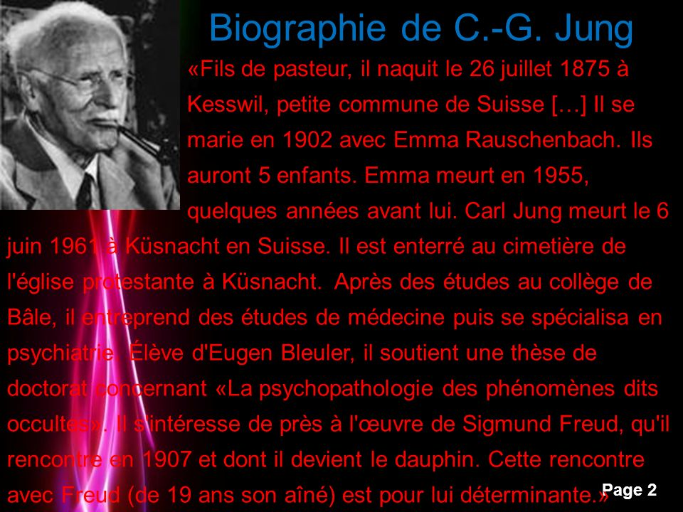 Powerpoint Templates Page 3 Biographie de C.-G.