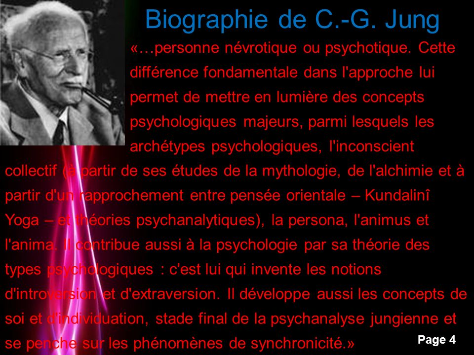 Powerpoint Templates Page 5 Biographie de C.-G.