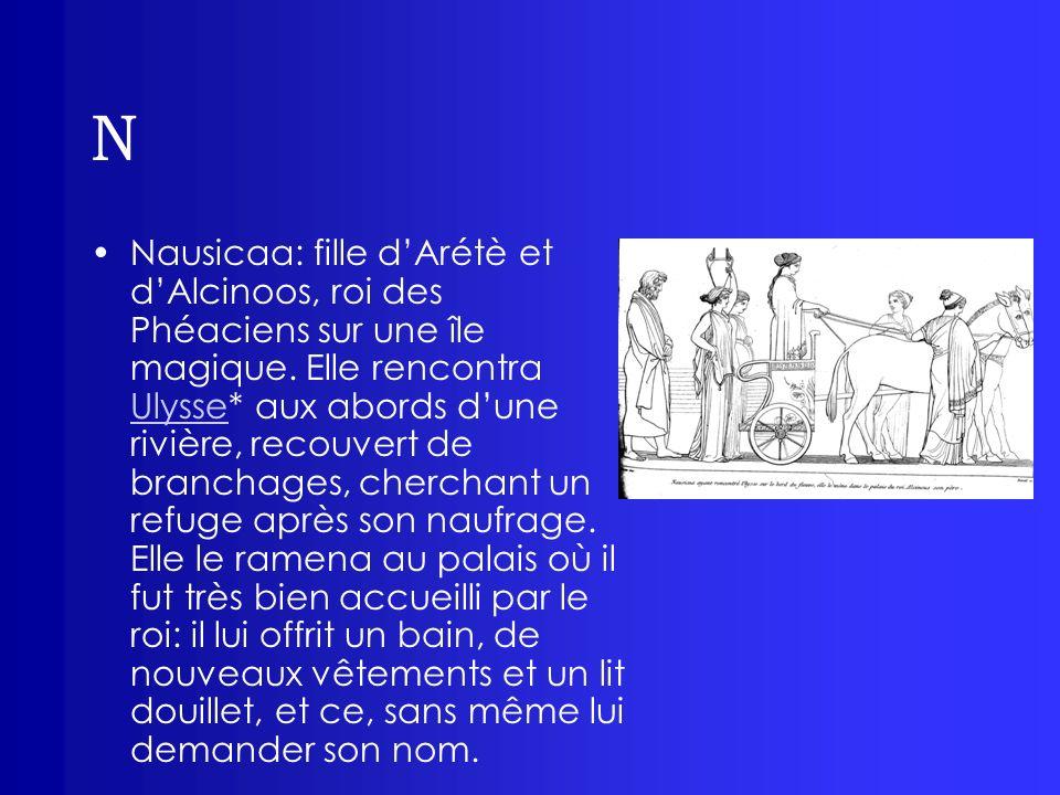 N Néoptolème: ou Pyrrhus, fils du grand guerrier Achille* et de Déidamie, époux dHermione, chef des Myrmidons* après la mort de son père.