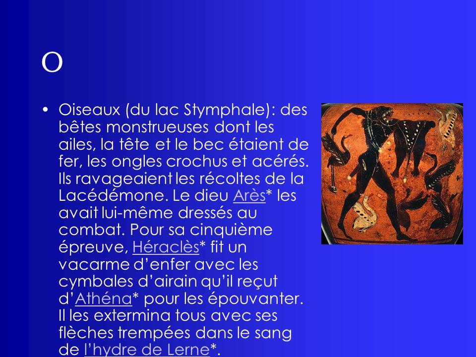 O Orphée: fils dOeagre, roi de Thrace et de la muse* Calliope.
