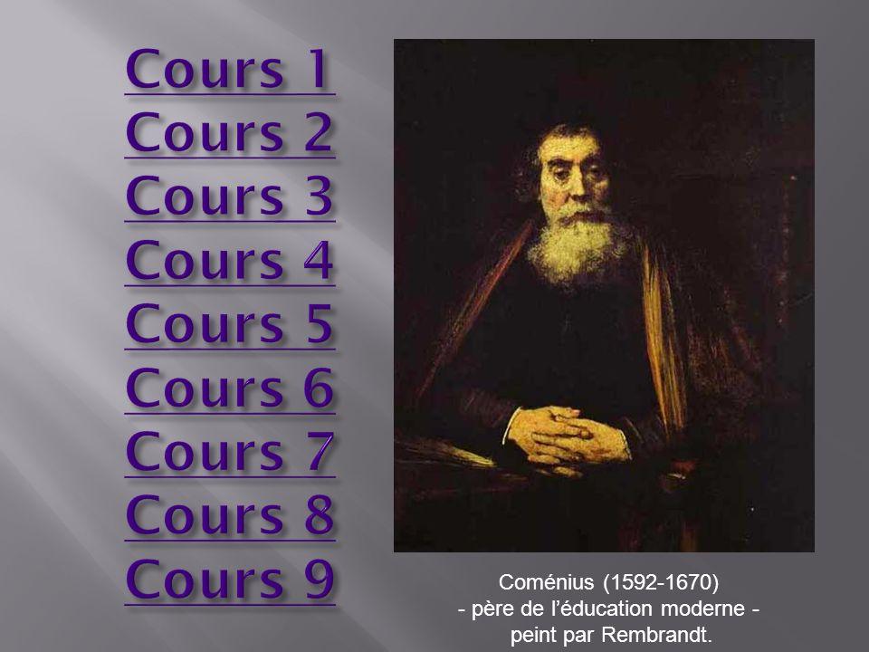 Coménius (1592-1670) - père de léducation moderne - peint par Rembrandt.