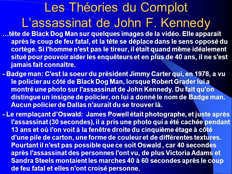 Les Théories du Complot Lassassinat de John F. Kennedy …tête de Black Dog Man sur quelques images de la vidéo. Elle apparait après le coup de feu fata