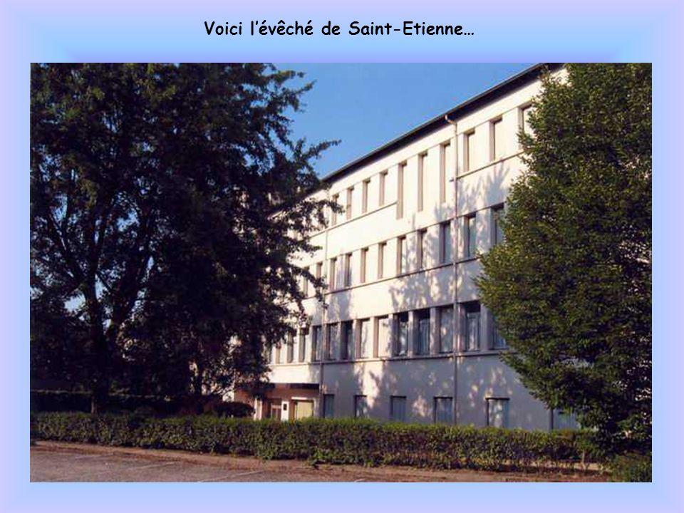 La cathédrale Saint Charles de Saint-Etienne, lieu du siège épiscopal de lévêque.