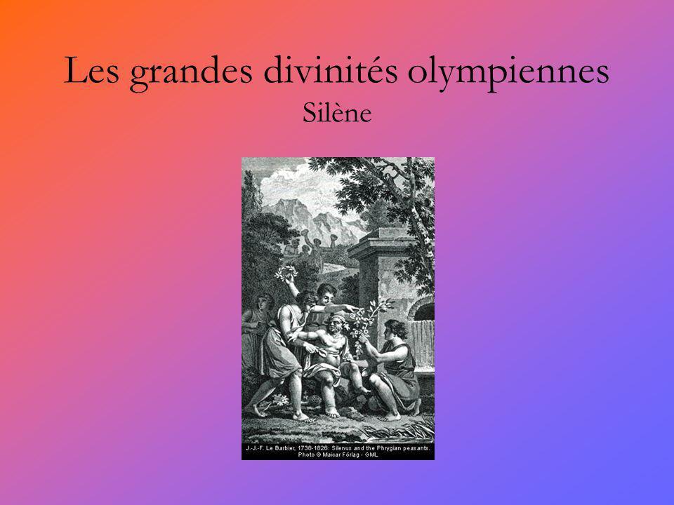 Les grandes divinités olympiennes Silène