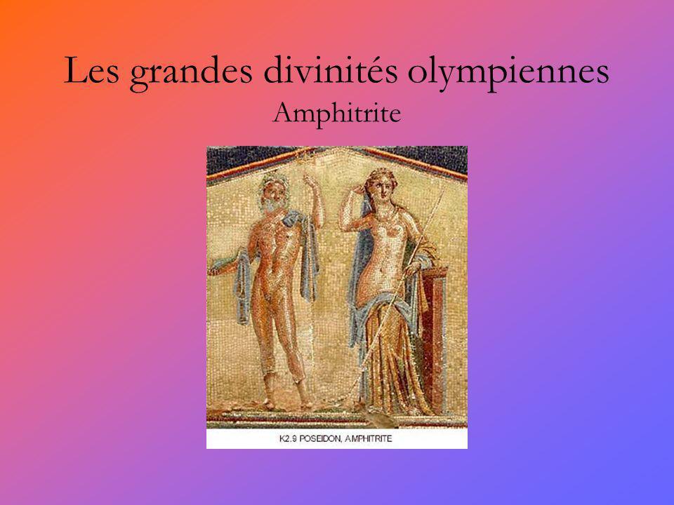 Les grandes divinités olympiennes Amphitrite