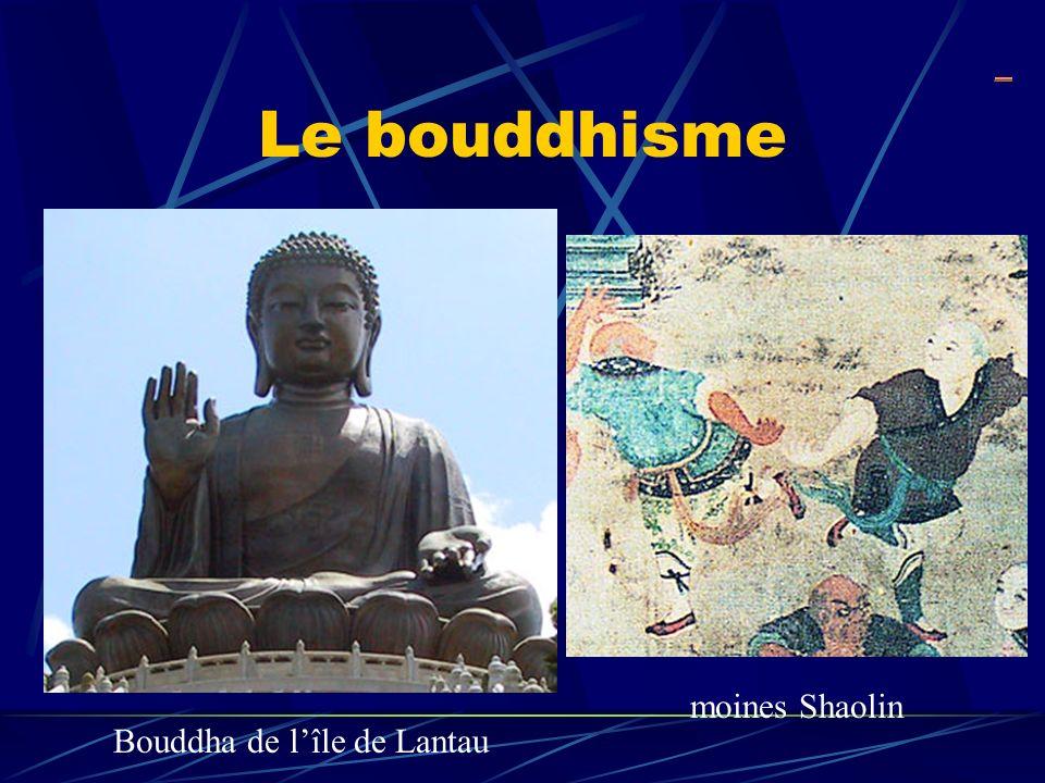 Le bouddhisme Bouddha de lîle de Lantau moines Shaolin _