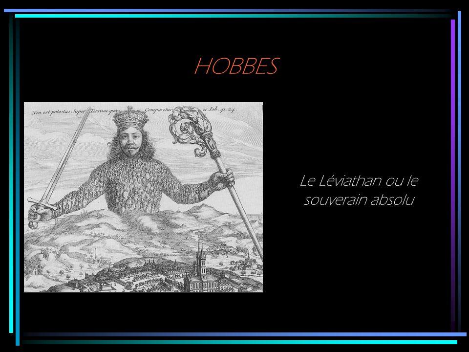 HOBBES Le Léviathan ou le souverain absolu