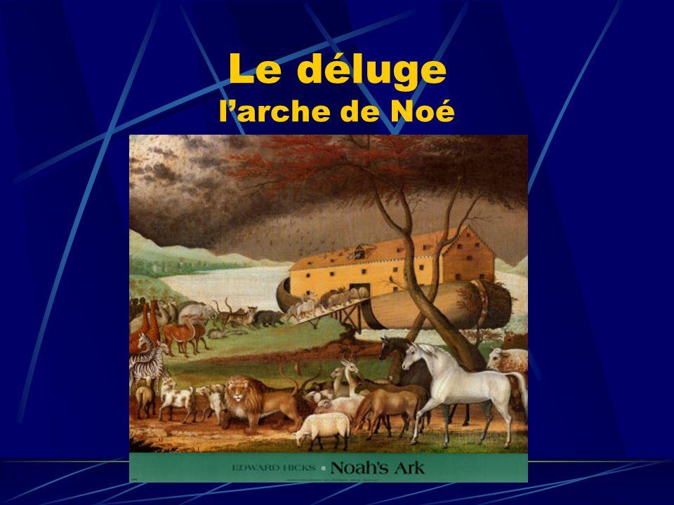 Le déluge larche de Noé