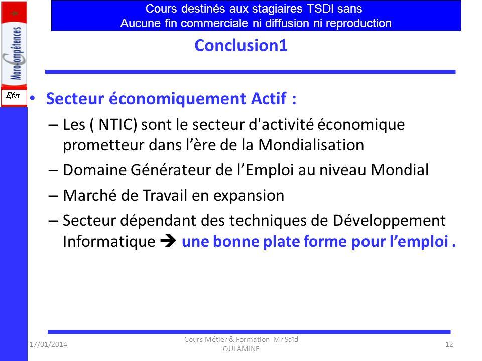 17/01/2014 Cours Métier & Formation Mr Saïd OULAMINE 11 Formation et Compétences ….(Suite) – Anglais technique – Techniques dexpression – Administrati