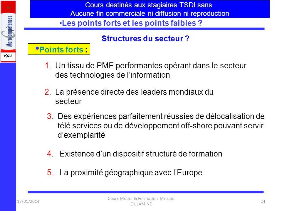 17/01/2014 Cours Métier & Formation Mr Saïd OULAMINE 23 Associations Professionnelles ? La plus importante et la plus active : APBI (Association des P