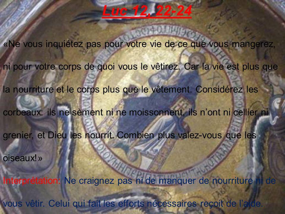 Luc 16, 23-26 «Dans lHadès, en proie à des tortures, [le riche] lève les yeux et voit de loin Abraham, et Lazare en son sein.