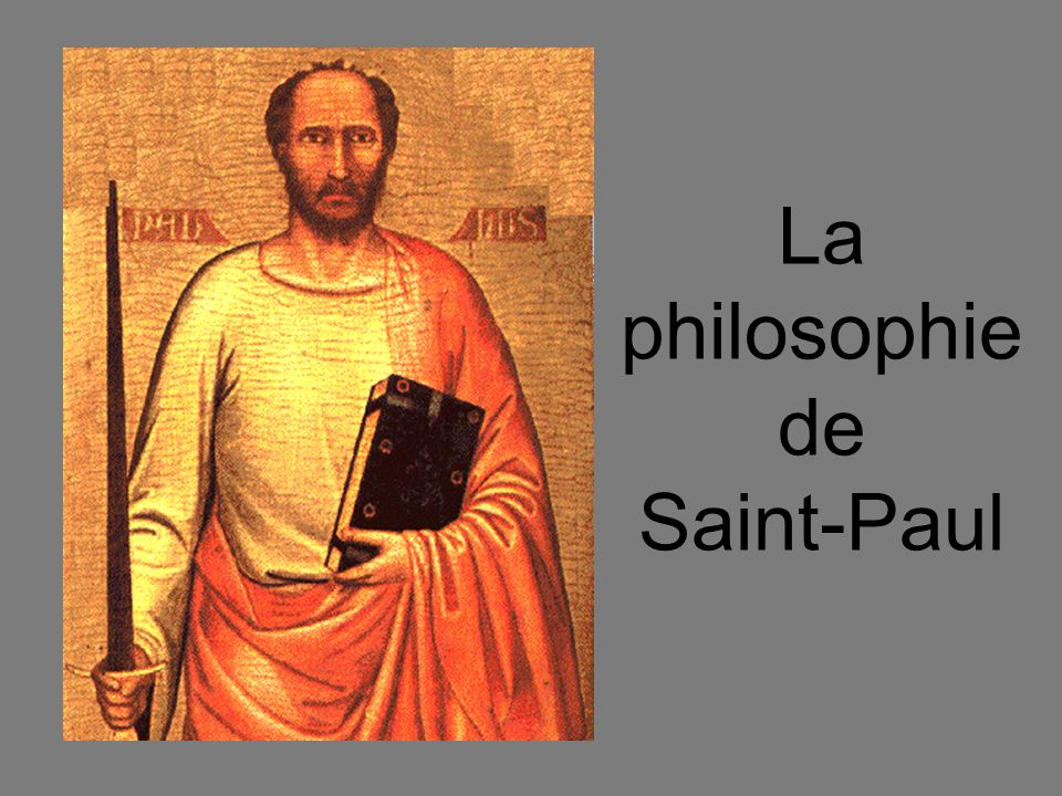 La philosophie de Saint-Paul