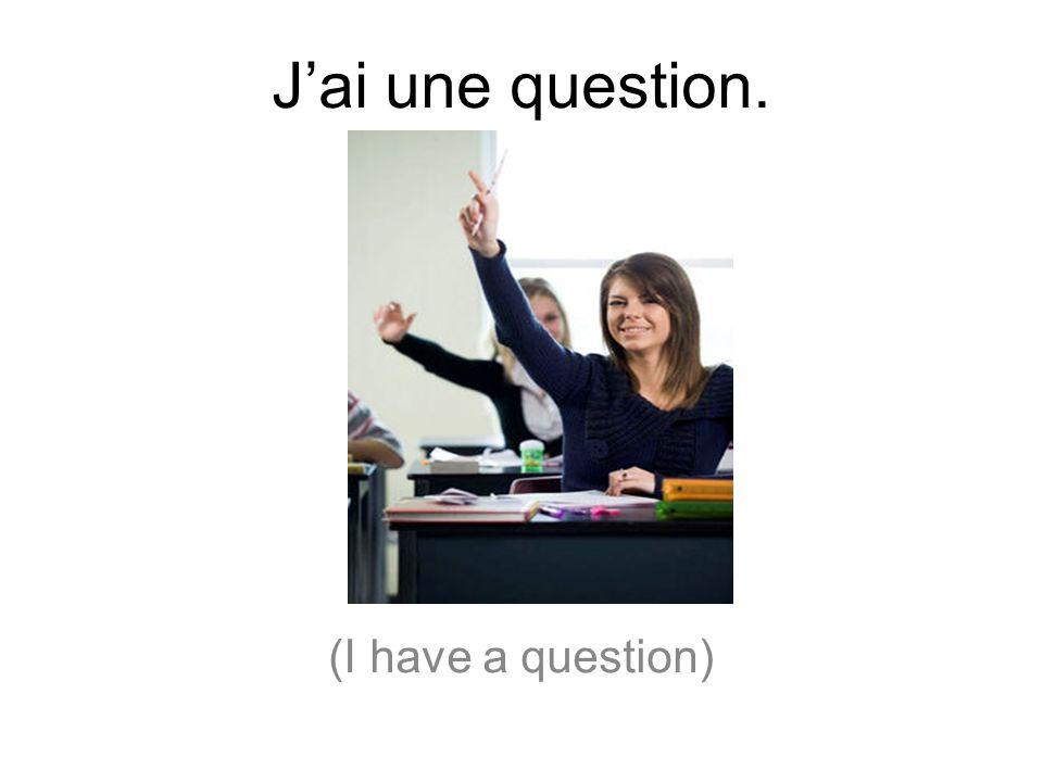 Jai une question. (I have a question)