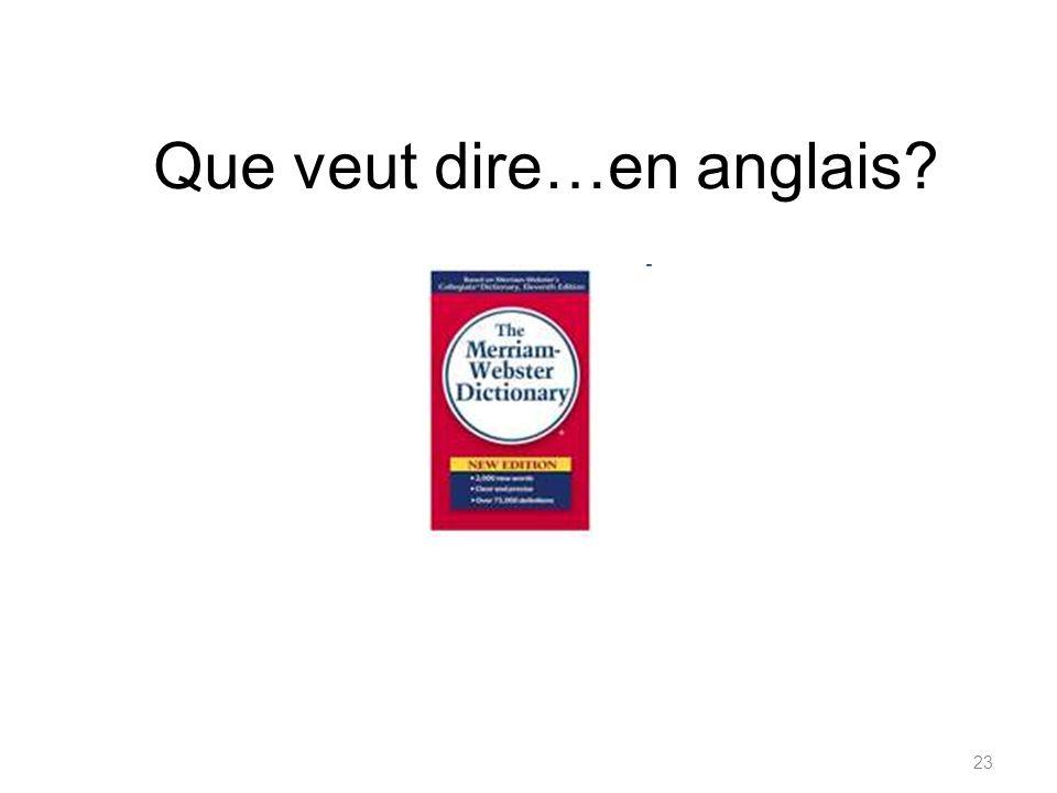 Comment dit-on... en français?