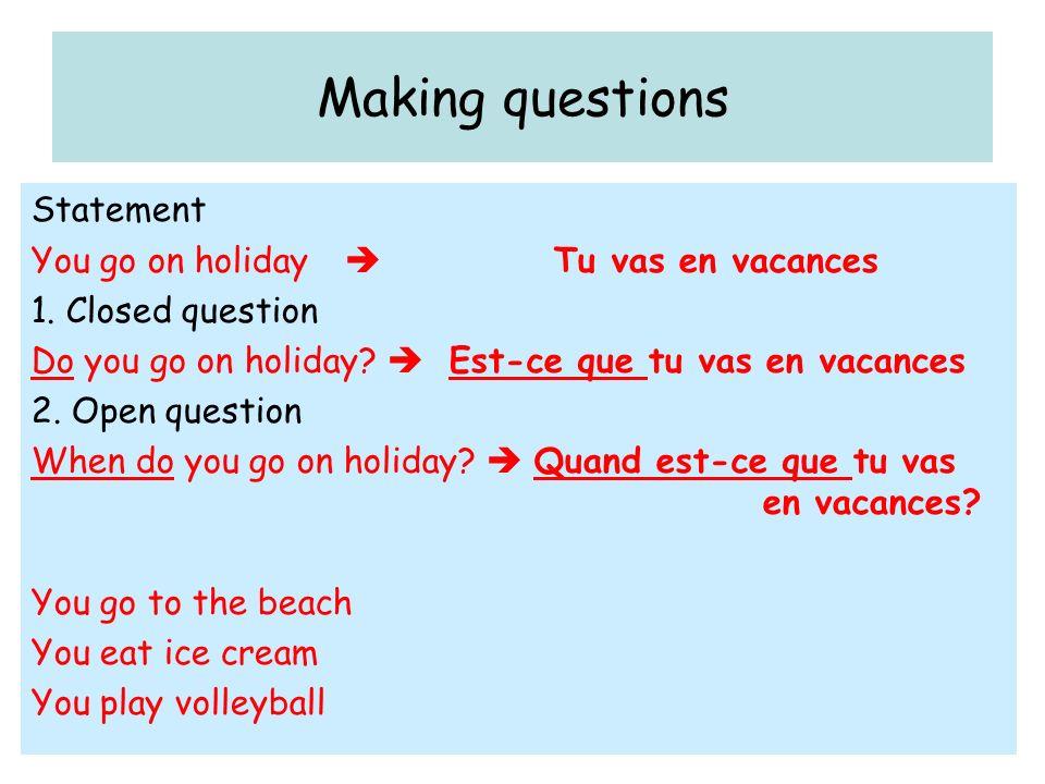 Est-ce que = Do …...Add Est-ce que = Do …... Tu passes les vacances en France.