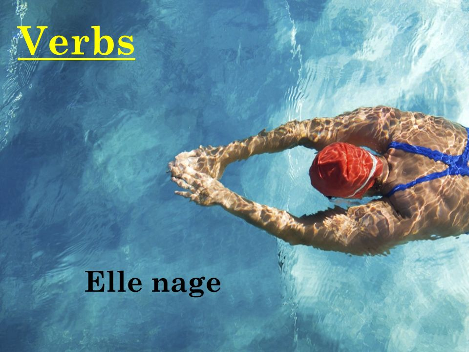 Verbs Elle nage