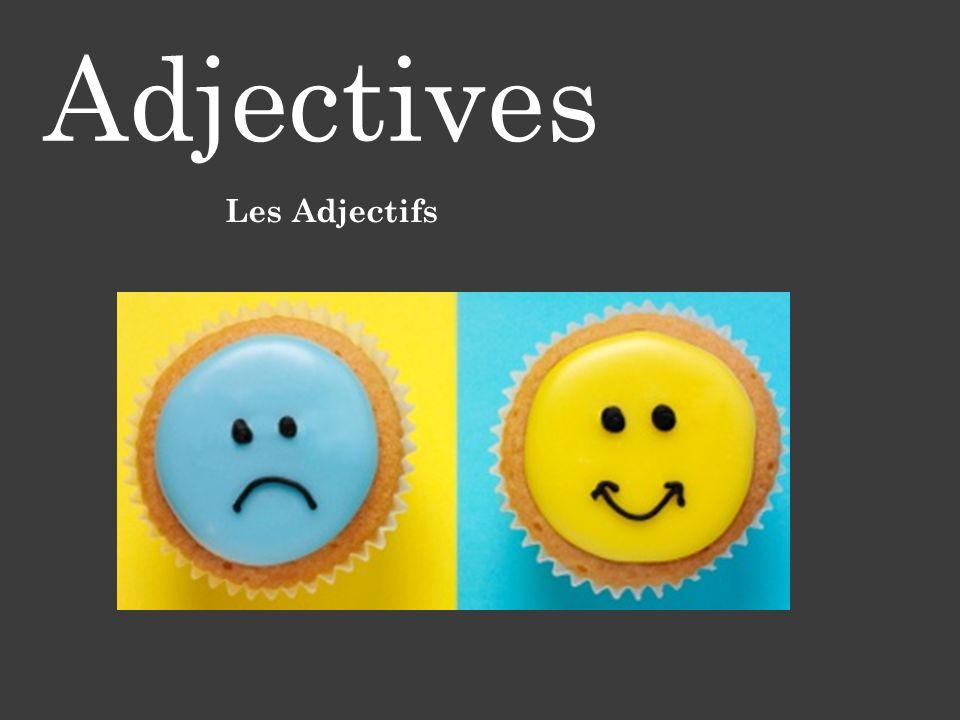 Adjectives Les Adjectifs