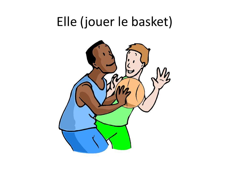 Elle (jouer le basket)