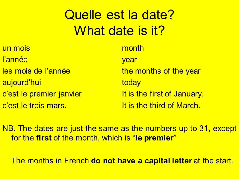 Et ton anniversaire.Quelle est la date de ton anniversaire.