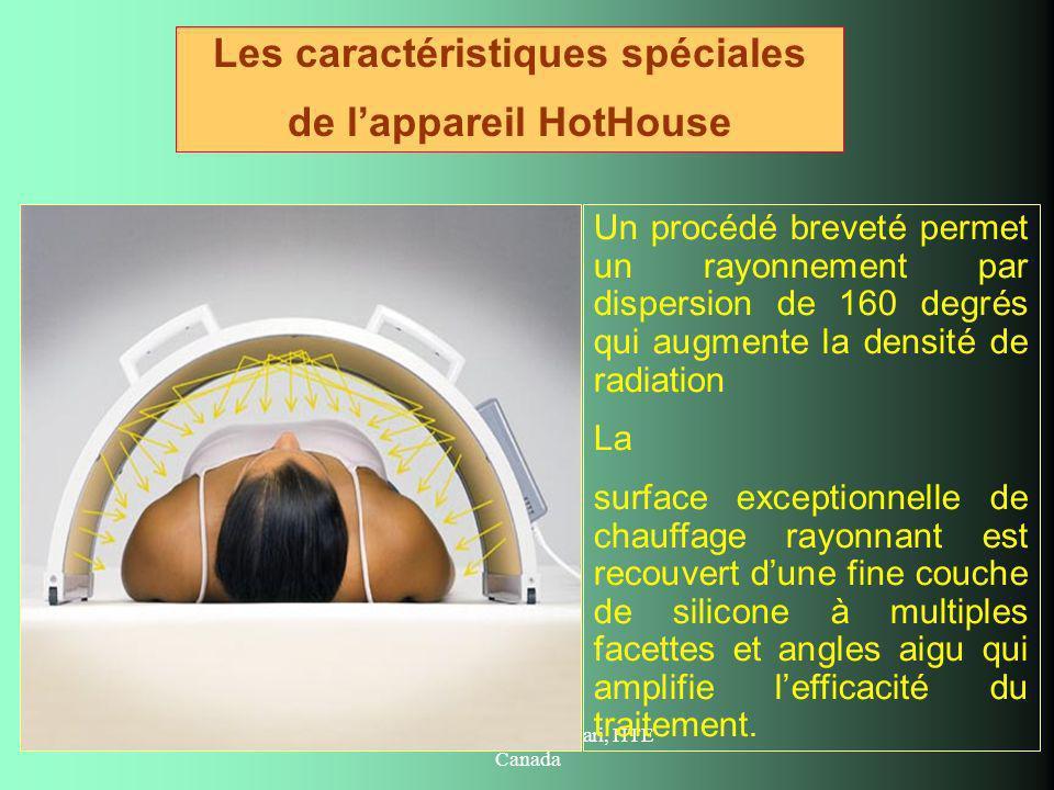 Crée par Maria Chessari, HTE Canada Un procédé breveté permet un rayonnement par dispersion de 160 degrés qui augmente la densité de radiation La surf