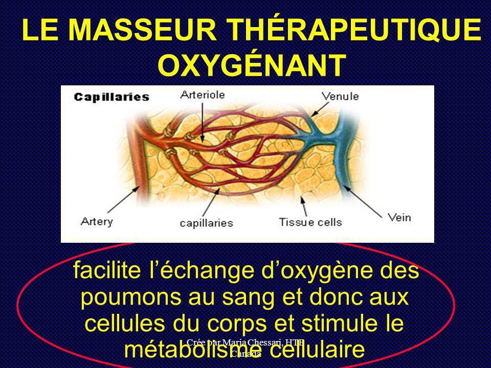 Crée par Maria Chessari, HTE Canada facilite léchange doxygène des poumons au sang et donc aux cellules du corps et stimule le métabolisme cellulaire