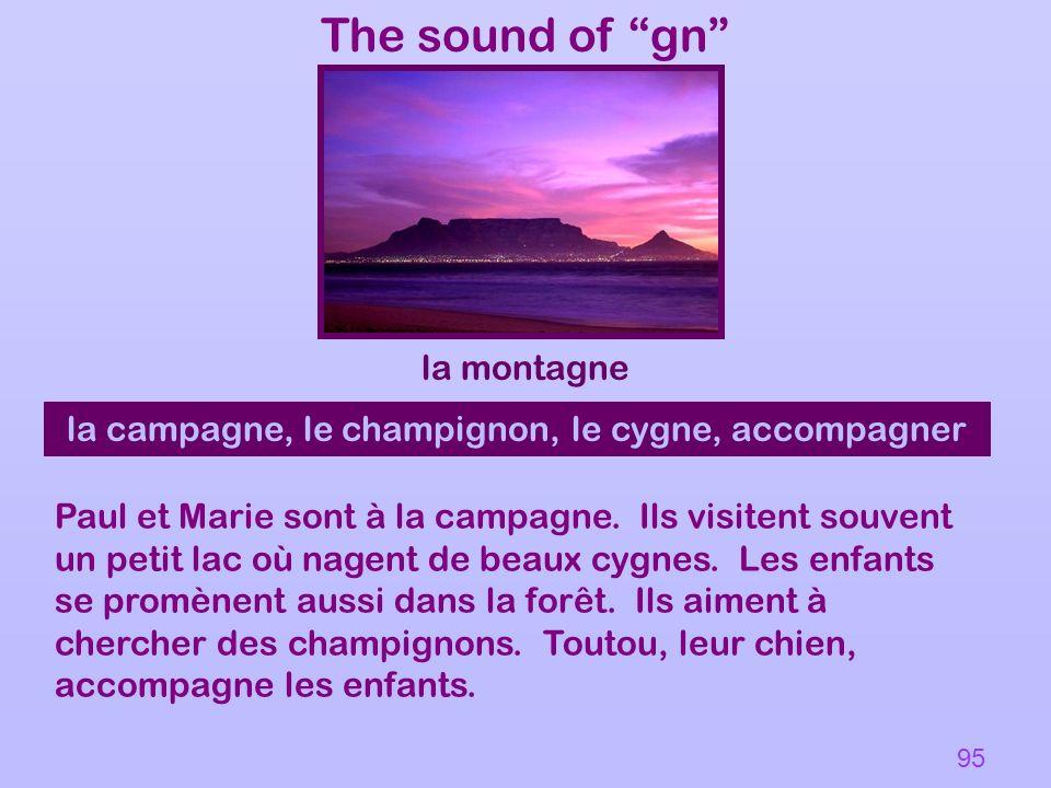 The sound of gn la montagne la campagne, le champignon, le cygne, accompagner Paul et Marie sont à la campagne. Ils visitent souvent un petit lac où n