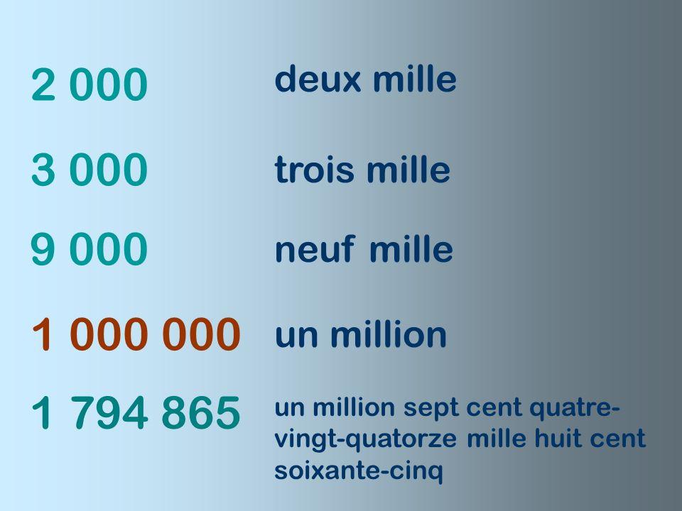 1 001 1 000 900 500 1 002 cinq cents neuf cents mille mille un mille deux