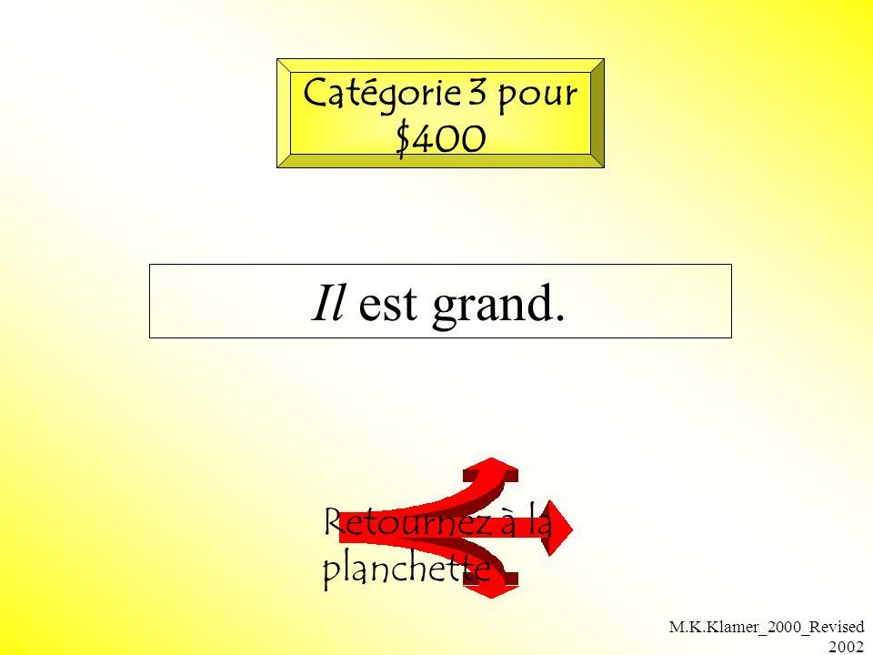 M.K.Klamer_2000_Revised 2002 Il est grand. Retournez à la planchette Catégorie 3 pour $400
