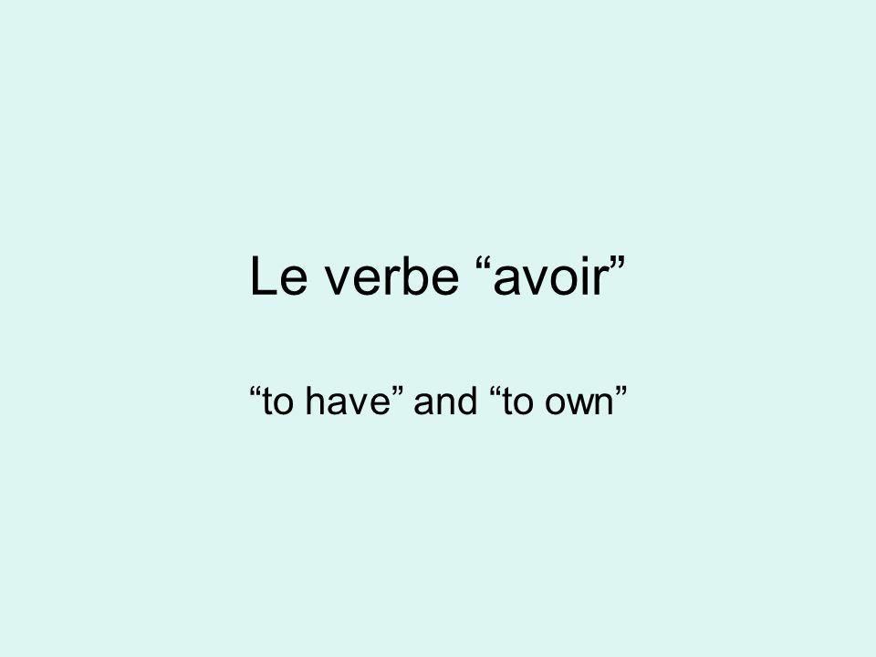 AVOIR- un verbe régulier ou irrégulier.Jai Jai une copine à Paris.