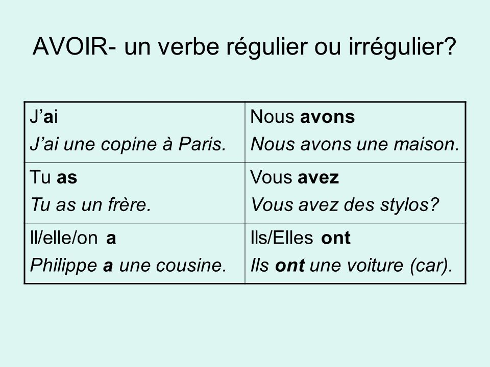 Expressions avec avoir Avoir…ans= to be… years old ex.