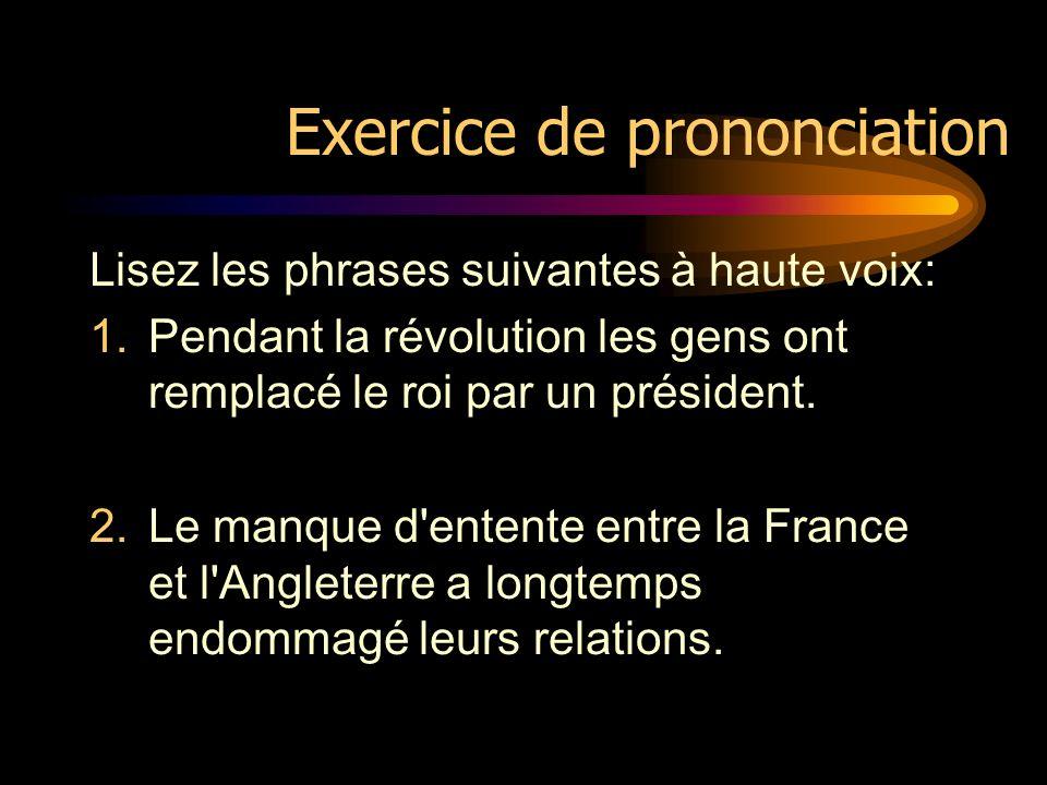 Note La règle de prononciation du [õ] ne s applique pas sil y a un redoublement de la consonne qui suit. Exemples:o n : / õ/ mais: bo nn e: /b ɔ n/ co