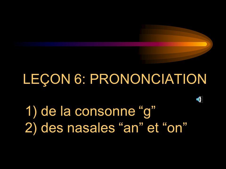 I. PHONÉTIQUE ET PRONONCIATION FREN 301