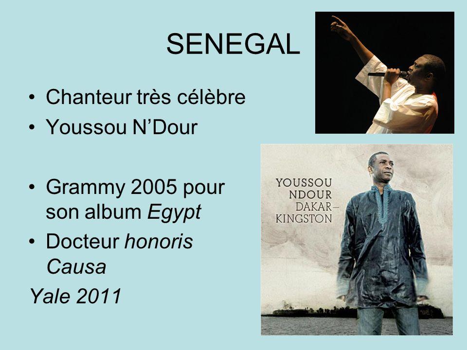 SENEGAL Chanteur très célèbre Youssou NDour Grammy 2005 pour son album Egypt Docteur honoris Causa Yale 2011