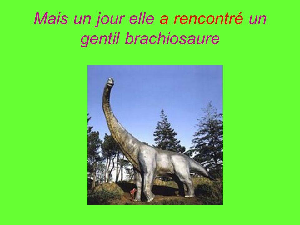 Mais un jour elle a rencontré un gentil brachiosaure