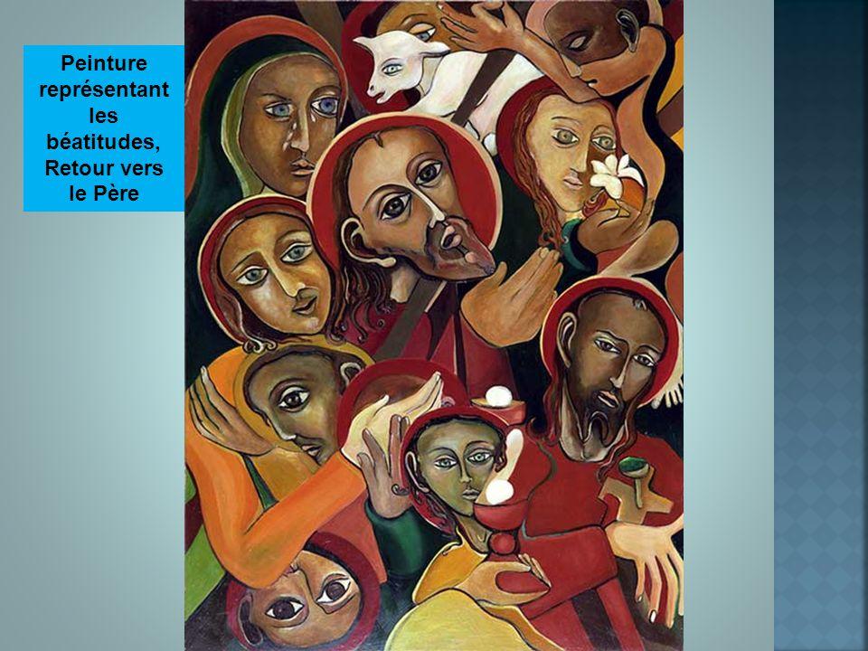 Peinture représentant les béatitudes, Retour vers le Père