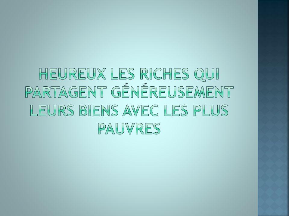 Partage des richesses
