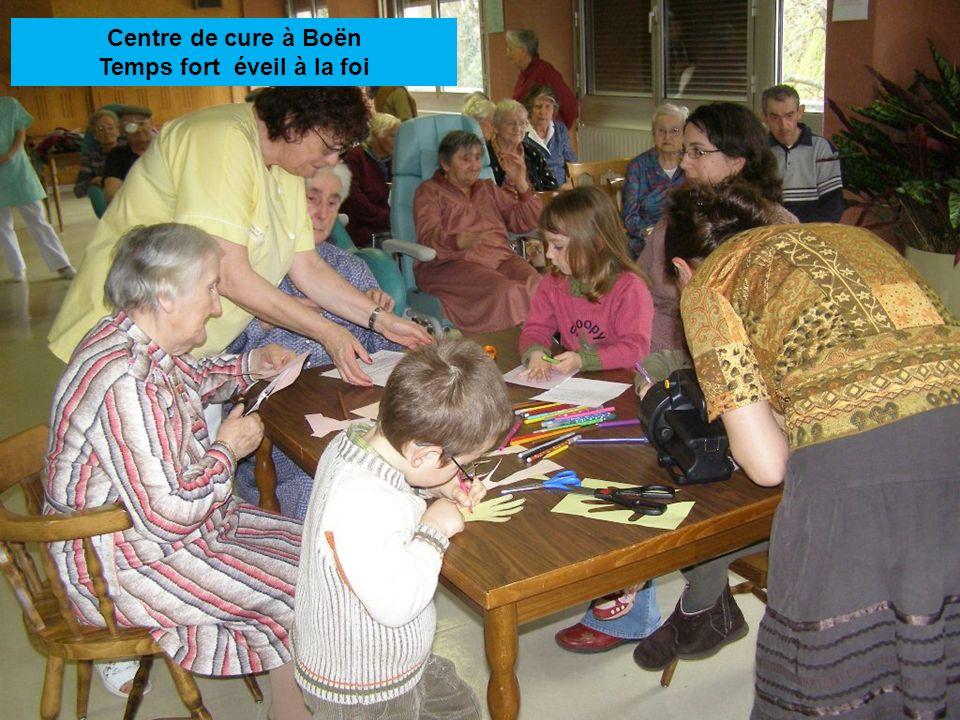 Centre de cure à Boën Temps fort éveil à la foi