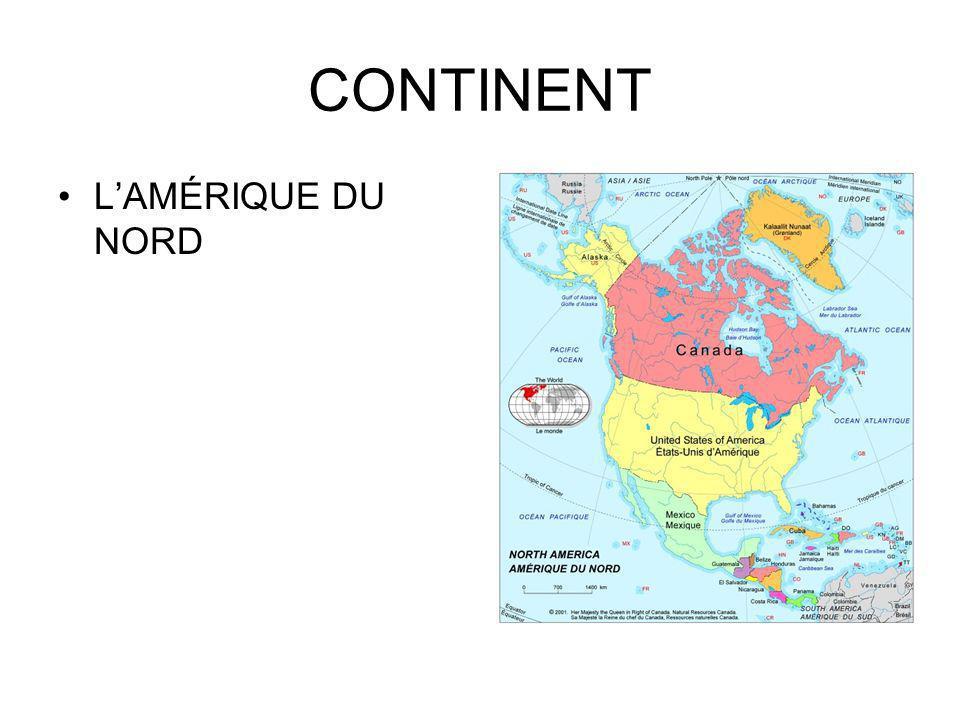 CONTINENT LAMÉRIQUE DU NORD