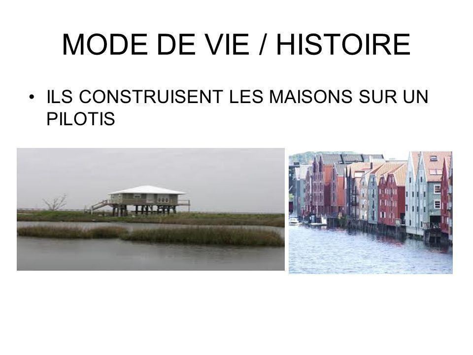 MODE DE VIE / HISTOIRE ILS CONSTRUISENT LES MAISONS SUR UN PILOTIS