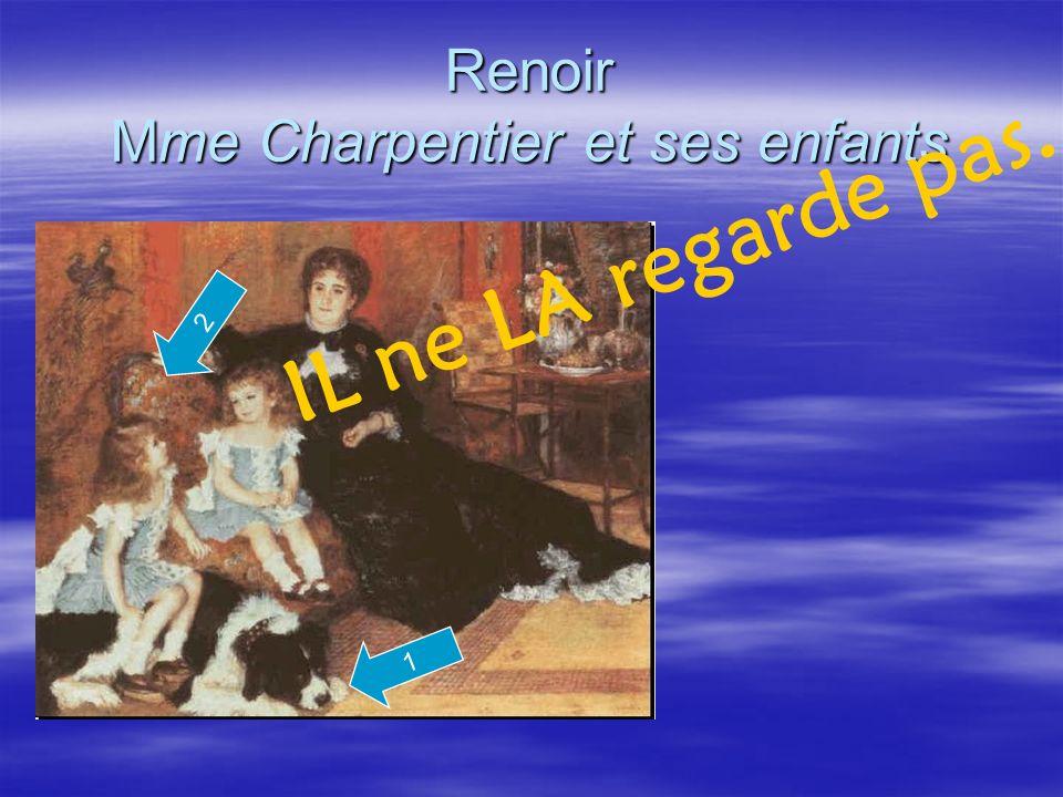 Renoir Mme Charpentier et ses enfants 1 IL ne LA regarde pas. 2