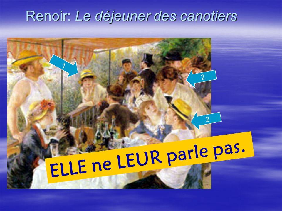 Renoir: Le déjeuner des canotiers 2 ELLE ne LEUR parle pas. 2 1